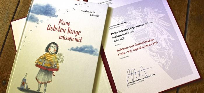 """""""Meine liebsten Dinge müssen mit"""" Von Sepideh Sarihi ist in die Kollektion des Österreichischen Kinder und Jugendbuchpreises aufgenommen!"""